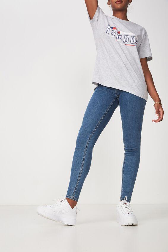 The Skinny Mid Rise Jean, BONDI BLUE