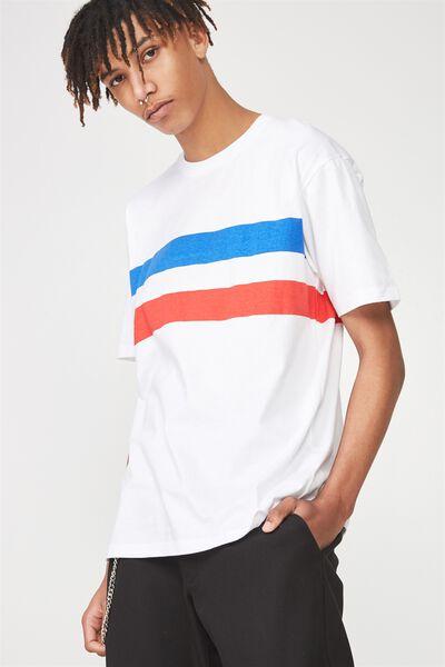 Ss Graphic T Shirt, WHITE/AUSTIN STRIPE