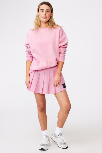 Pleated Skirt, BABE PINK