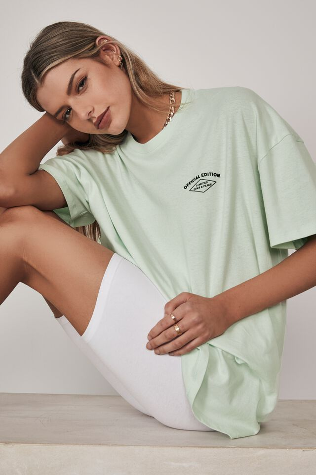 Super Relaxed Graphic Tee, OPAL BLUE/OFFICIAL EDITION