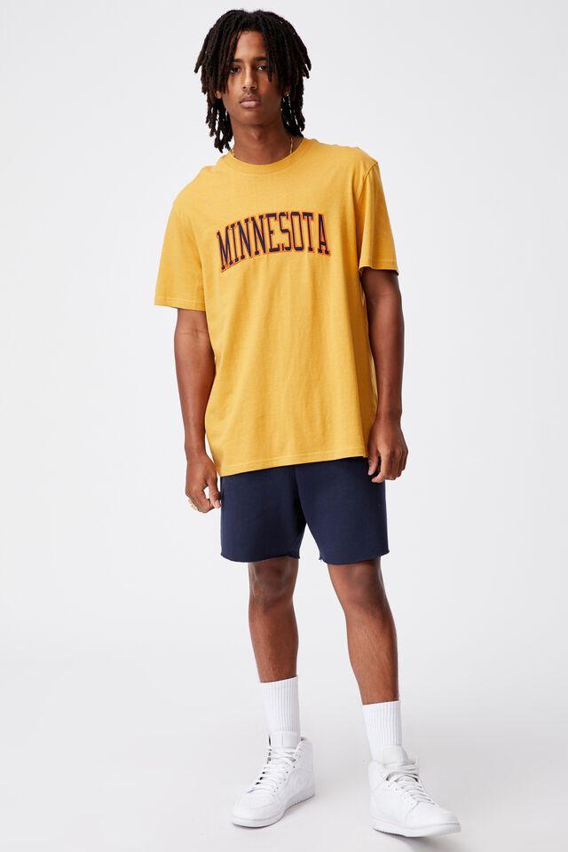 Regular Graphic T Shirt, GOLDEN CLAY/MINNESOTA