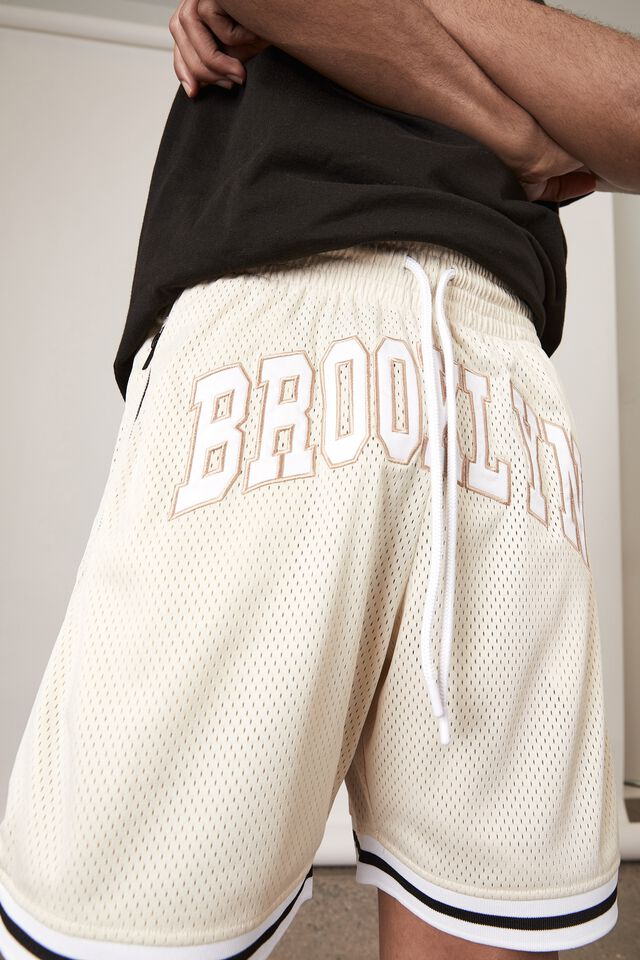 Basketball Short, IVORY/BROOKLYN