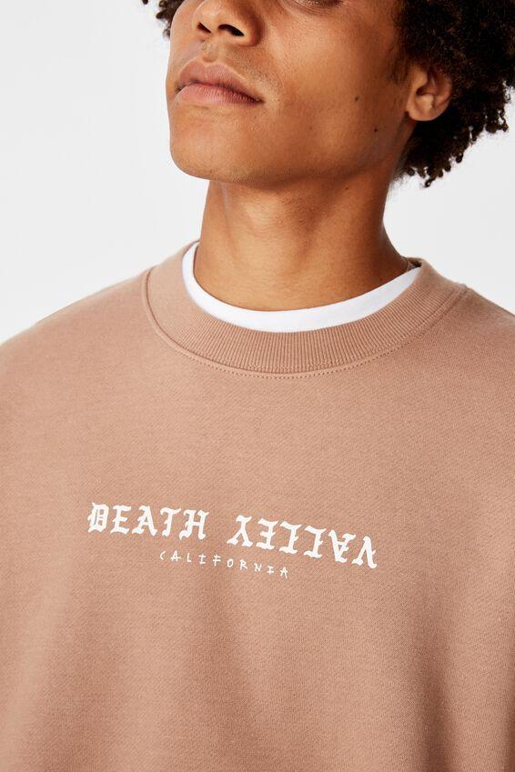 Oversized Graphic Crew, MOCHA/DEATH VALLEY