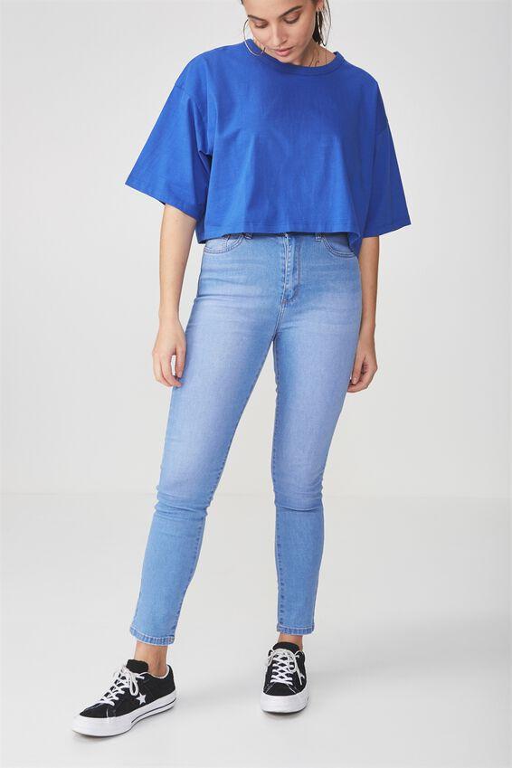 The High-Rise Skinny Jean 2, BRILLIANT BLUE
