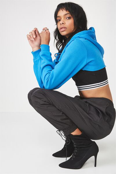 Extreme Crop Hoodie, FRENCH BLUE