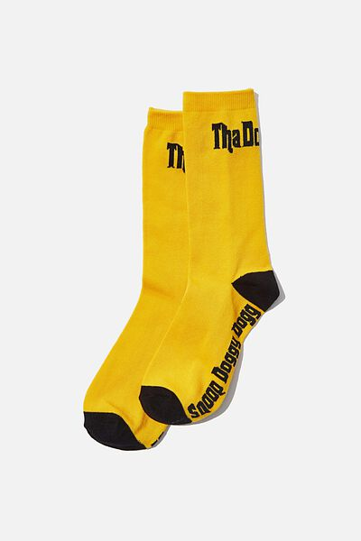 License Jersey Sock, SNOOP DOGG YELLOW/BLACK