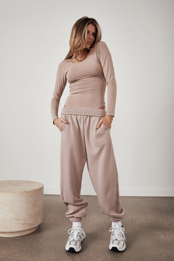Long Sleeve Open Back Bodysuit, ETHEREA