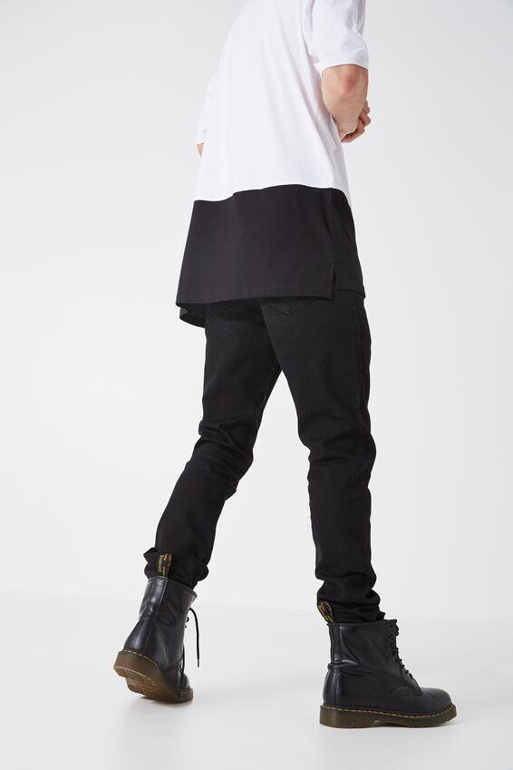 Slim Straight Denim Jeans, TRUE BLACK