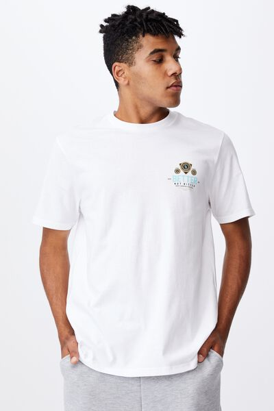 Regular Graphic T Shirt, WHITE/BETTER NOT BITTER