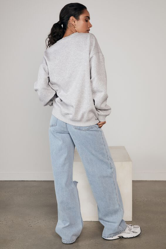 Lcn Nfl Oversized Graphic Crew, LCN NFL GREY MARLE/DOLPHINS