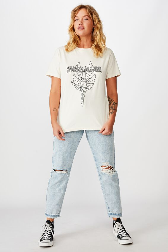 Lcn Relaxed Graphic T Shirt, WASHED IVORY/SMASHING PUMPKINS ANGEL