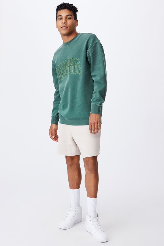 Elite Oversized Crew, WASHED FOREST PINE/MEMPHIS