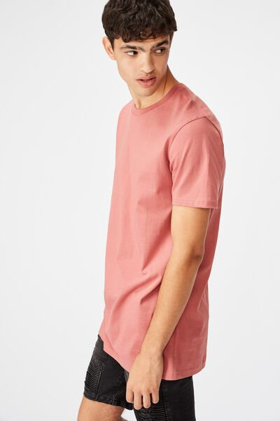 Longline T Shirt, BRICK RED