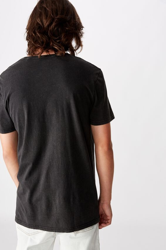 Slim Graphic T Shirt, WASHED BLACK/BURNING ROSE