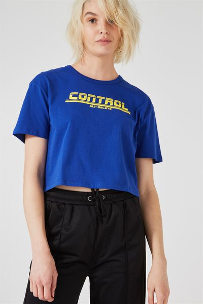Graphic Boxy Tee, CONTROL_SURF THE WEB