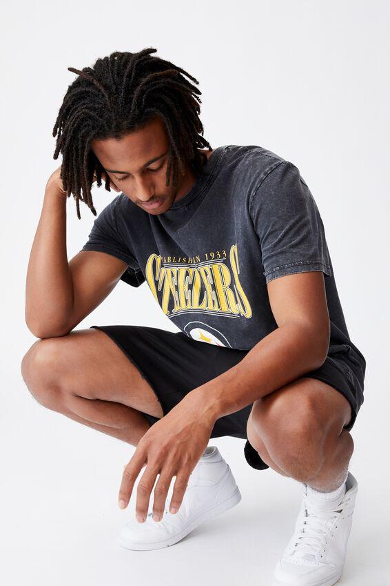 Regular Nfl T Shirt, LCN NFL WASHED BLACK/STEELERS