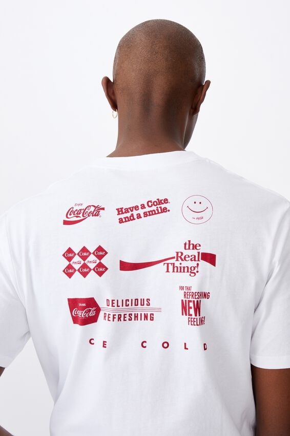 Regular License T Shirt, LCN COK WHITE/COCA COLA