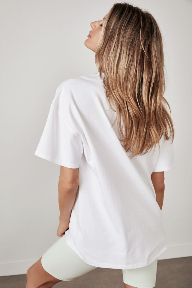 Super Relaxed Graphic Tee, WHITE/CIRCULAR ENERGY