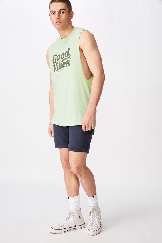 Graphic Muscle Tank, MISTY JADE/GOOD VIBES