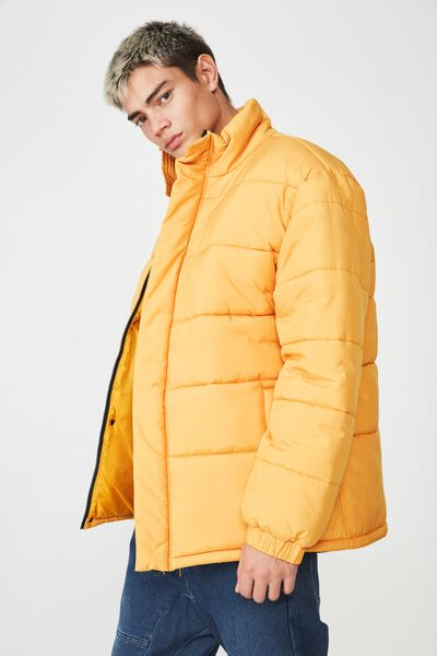 Puffer Jacket, HONEYCOMB