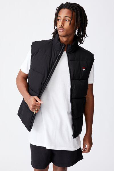 Fila Lcn Puffer Vest, BLACK/FILA