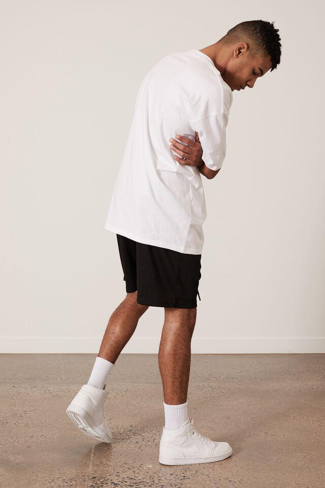 Graphic Basketball Short, BLACK/LA