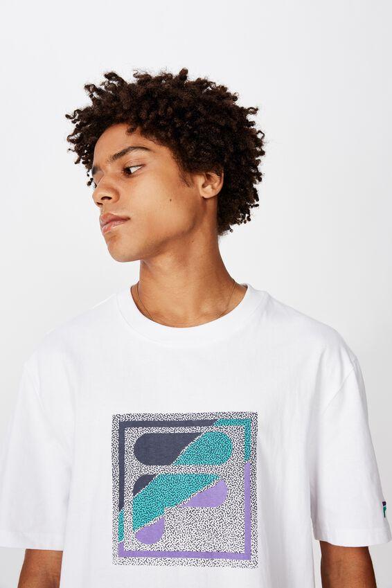 Fila Lcn Regular Graphic T Shirt, WHITE/STATIC BOX