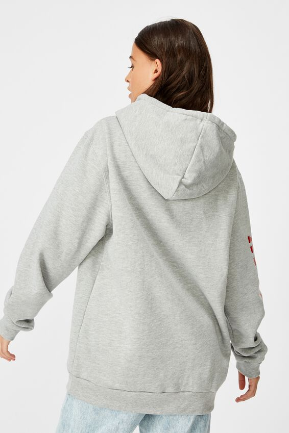 Personalised Basic Hoodie, GREY MARLE