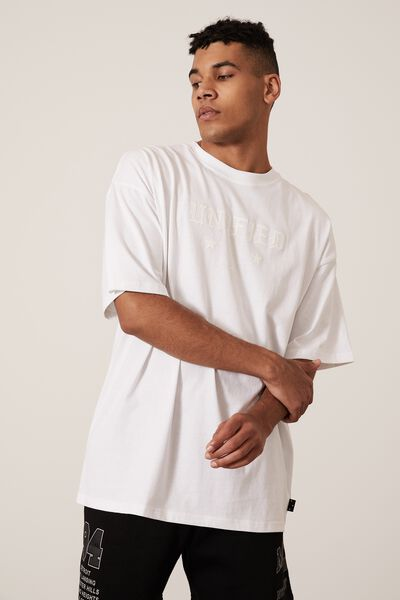 Oversized Graphic T Shirt, WHITE/WHITE/UNIFIED
