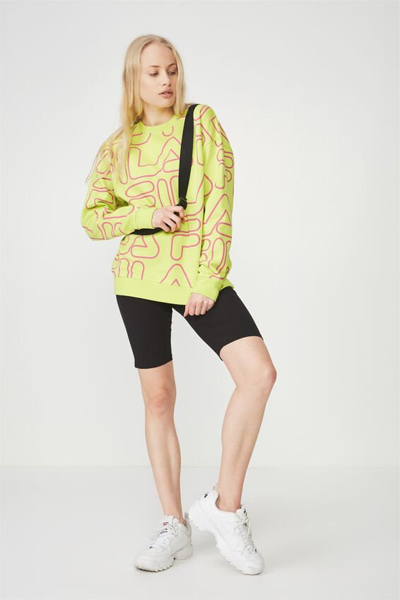 Fila Lcn Allover Crew Neck Jumper, FILA ALL OVER PRINT