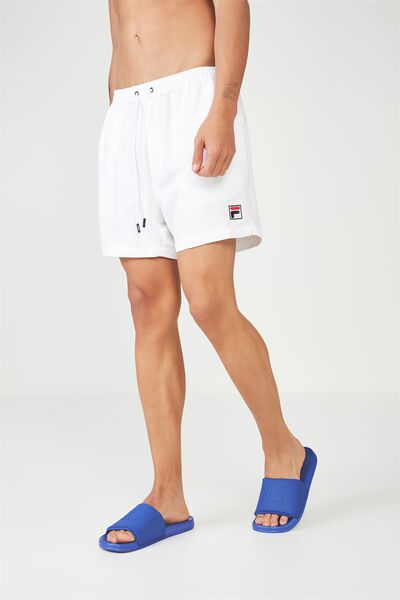 Fila Lcn Logo Swim Short, WHITE