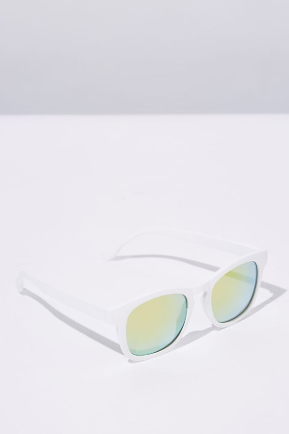 Waymax Sunglasses, WHITE RUB_GRN PNK