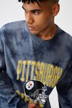 Oversized Nfl Crew, LCN NFL GREY TIE DYE/STEELERS