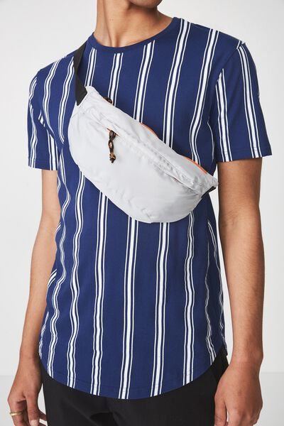 Crossbody Bag, GREY/ORANGE
