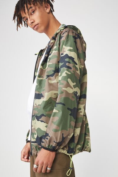 Hooded Spray Jacket, CAMO