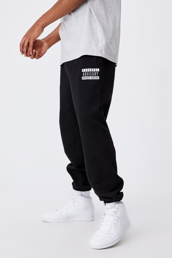 Relaxed Pop Culture Trackpant, LCN PAD BLACK/PARENTAL ADVISORY