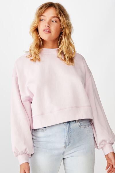 Boxy Sleeve Crew, SURF PINK