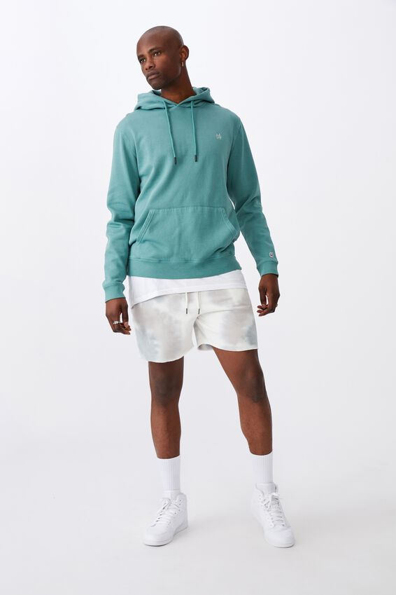 Oversized Icon Hoodie, WASHED TEAL