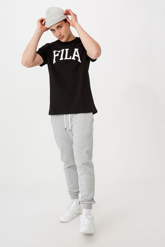 Fila Lcn Regular Graphic T Shirt, BLACK/COLLEGIATE