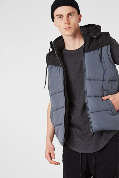 Summitt Puffer Vest, TURBULENCE/BLACK