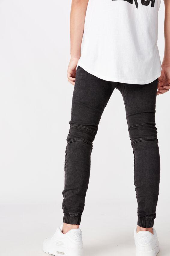 Moto Denim Cuffed Jean, ALMOST BLACK DISTRESSED