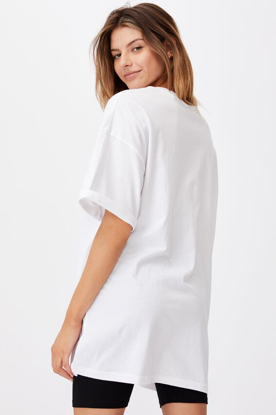 Oversized Graphic T Shirt, WHITE/MISSOURI