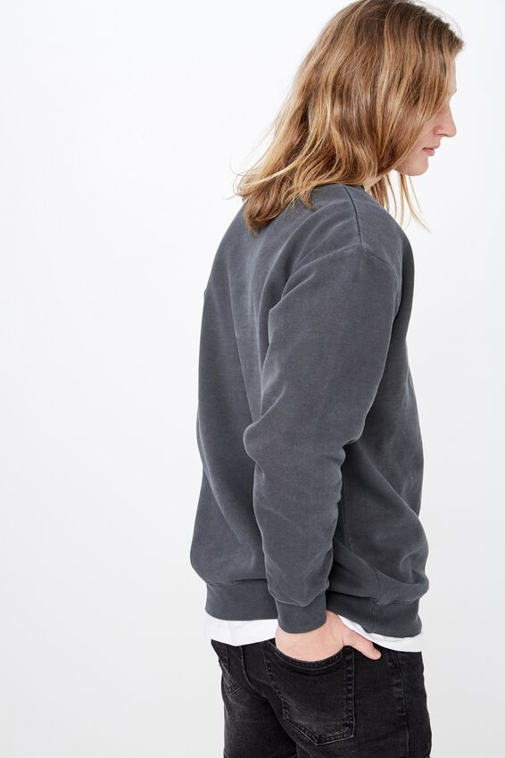 Oversized Graphic Crew, WASHED BLACK/PROBLEMS