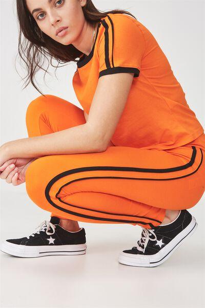 Stripe Legging, PUFFINS BILL/BLACK