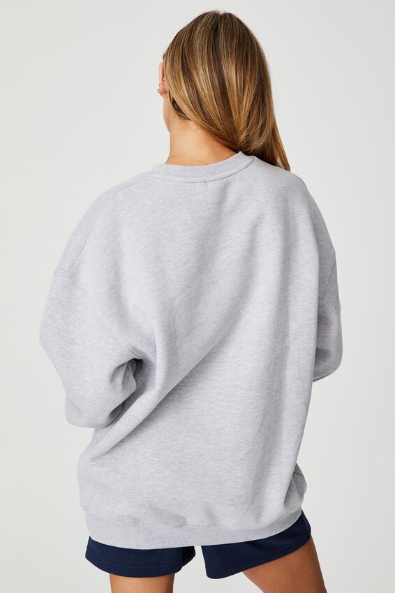 Fila Lcn Oversized Graphic Crew, GREY MARLE