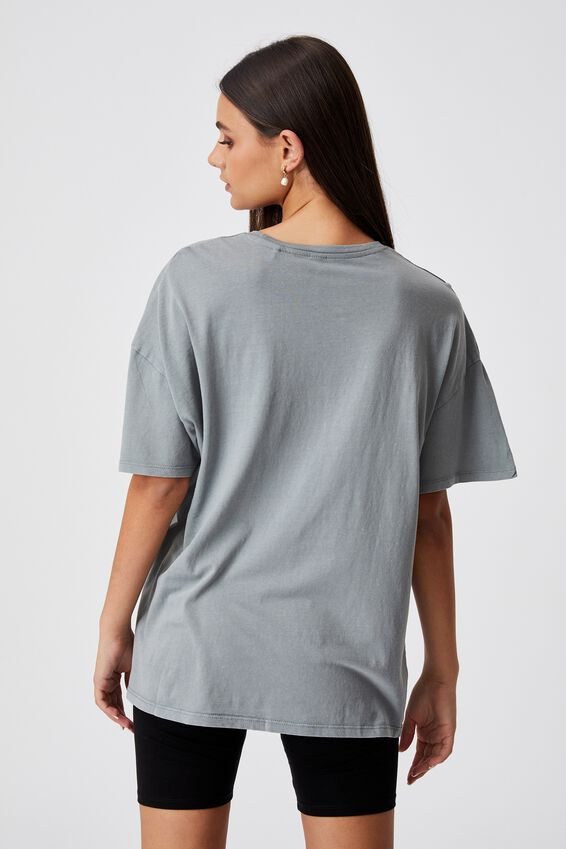 Super Relaxed Graphic Tee, WASHED GREY/TIMELESS WONDER