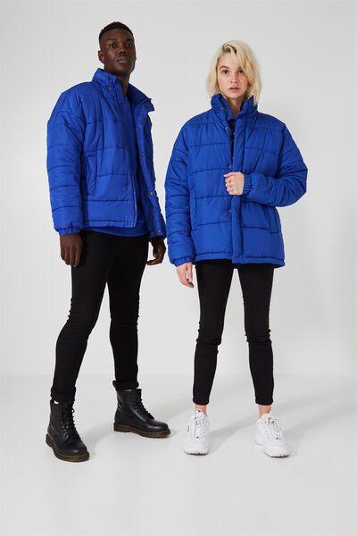 Arbour Puffer Jacket, BLUE