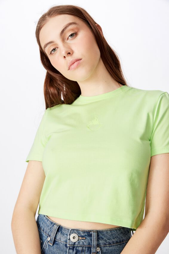 Fitted Graphic T Shirt, PATINA GREEN/FLAMMING HEART