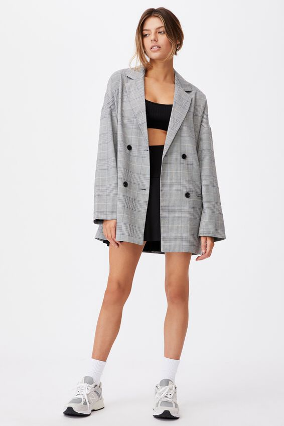 Oversized Blazer, HAILEY CHECK