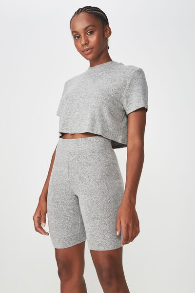 So Soft Bike Short, GREY MARLE